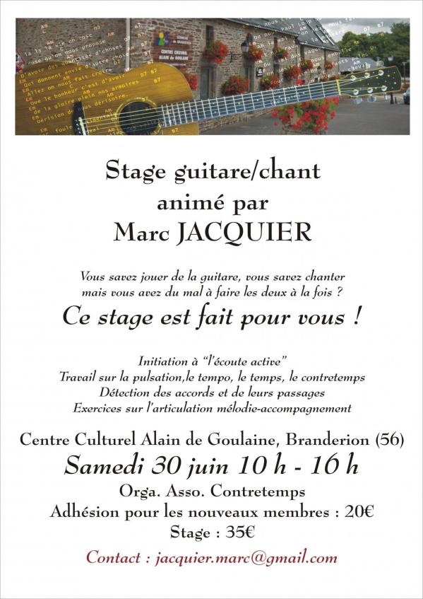 Stage guitare chant
